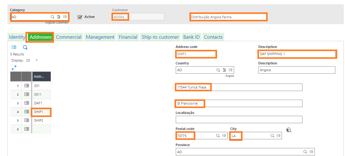 Updated Shipping Address in Sage from Salesforce