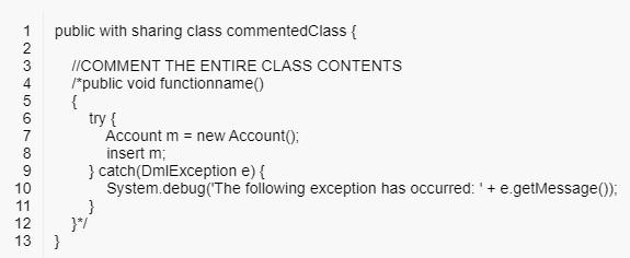 Comment Class
