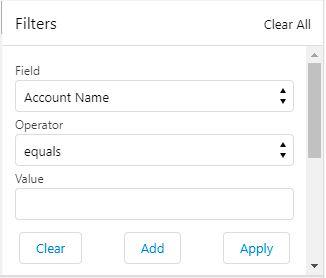 Dynamic Filter UI