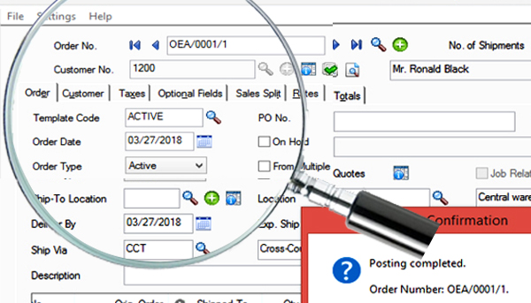 document tracking sage 300 erp