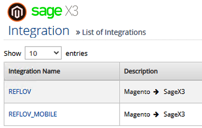 sage integrtaion with magento