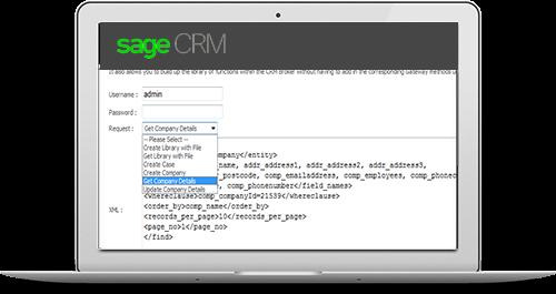 sage crm web service components