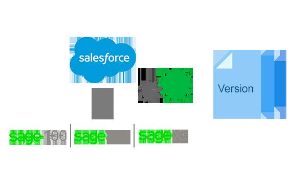 salesforce sage erp verison compatibility