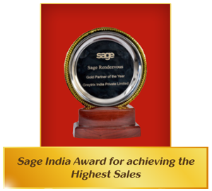 Highest Sales Sage India Award