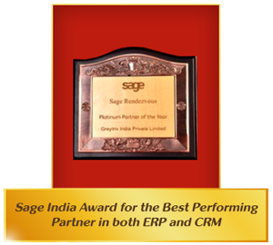 Sage India Best Performing Award ERP/CRM