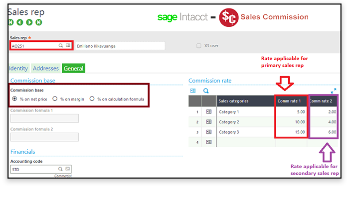 Sage intacct sales commission reports